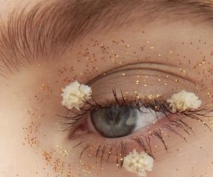 flowers, eye, and eyes image