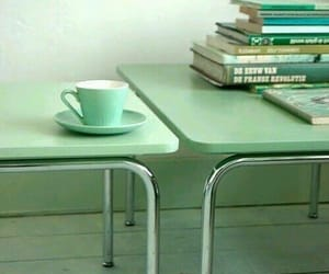 book, cup, and mint image