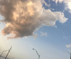 clouds, mine, and powerlines image