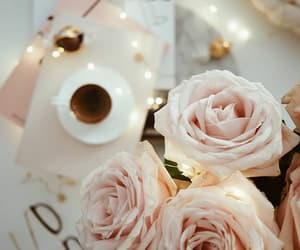 coffee, nature, and flowers image
