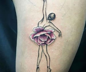 tattoo, flower, and ballet image
