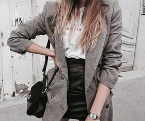 beautiful, coat, and skirt image