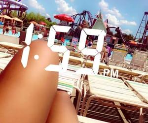 amusement park, beach, and disney image