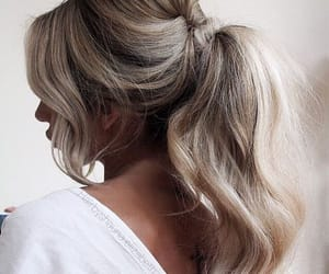 blond, hair, and ponytail image