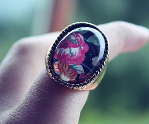 cameo, fashion, and ring image