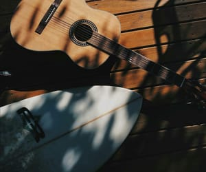 guitar, summer, and surfing image