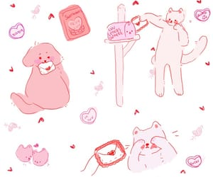 pink, white, and cute image