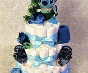 Bleu, stitch, and gâteau image