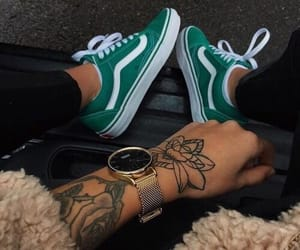sneakers, tattoo, and acessories colors image