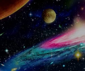 aesthetic, galaxy, and anime image
