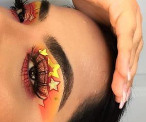 eyebrows, eyelashes, and glitter image
