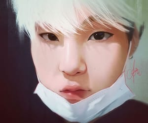 art, bts, and suga image