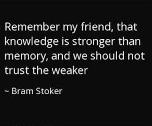 bram stoker, friend, and knowledge image