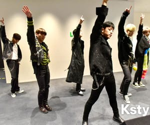 group, hands up, and kpop image