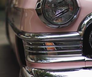 cadillac, pink, and vintagecars image