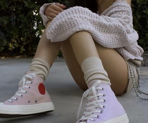 converse, girl, and shoes image