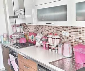 decoration, kitchen, and pink image
