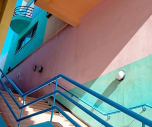 colorful, stairway, and stripes image