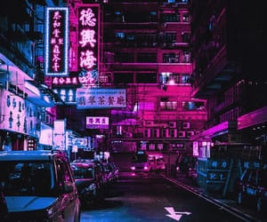 asian, lights, and street image