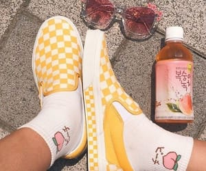 yellow, vans, and pink image
