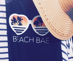 bae, beach, and vacay image