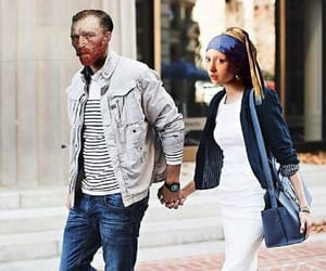 art, couple, and van gogh image