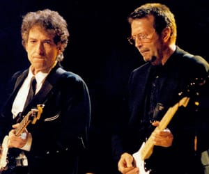 icons, poets, and dylan + clapton image