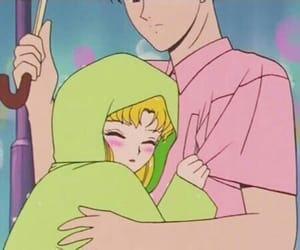 anime, sailor moon, and rain image
