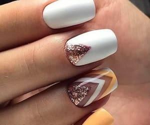 nail art, nails, and glitter image