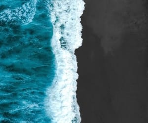 beach, nature, and waves image
