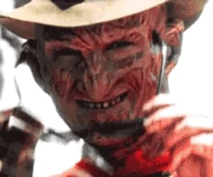 creepy, freddy krueger, and gif image