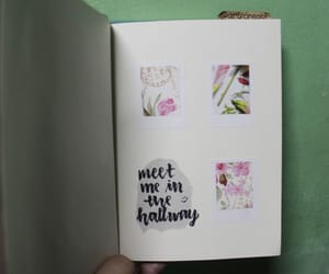 art journal, flowers, and journal image