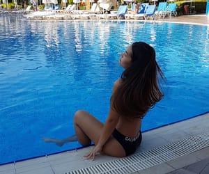 bikini, girl, and long hair image