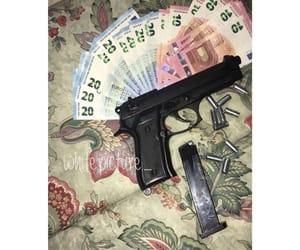 balle, gun, and money image