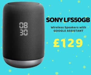 google assistant, sony, and wireless speakers image