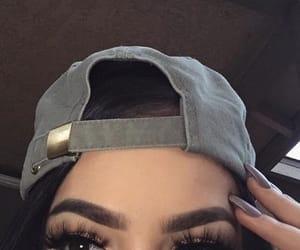black, black hair, and eyebrows image
