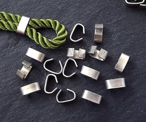 etsy, matte silver, and crimp beads image