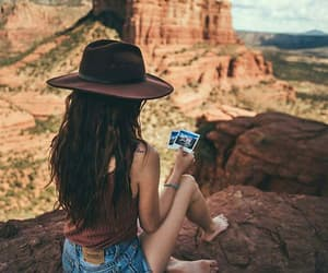 girl, travel, and canyon image