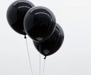 aesthetic, balloons, and black aesthetics image