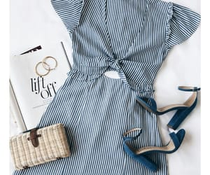 blue, dress, and summer image