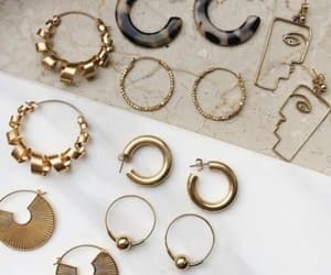 collection, gold, and jewelry image