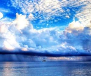 sky, blue, and sea image