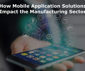 mobile app development, mobile app solutions, and mobile technology image