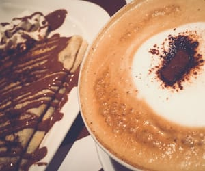 cappuccino, coffee, and crepes image