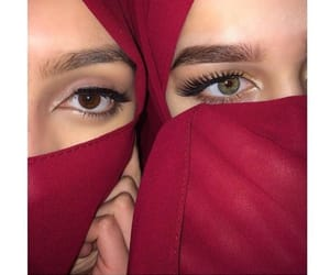 eyes, headscarf, and moroccan image
