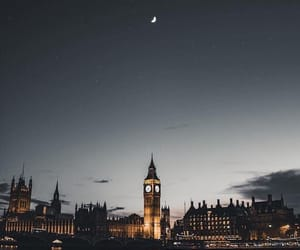 london, moon, and night image