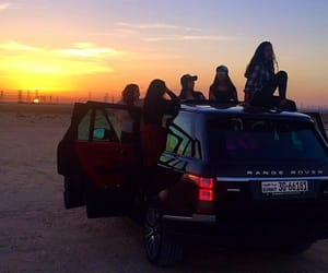 beach, besties, and range rover image