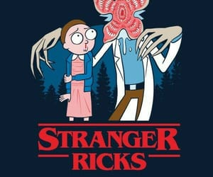 stranger things and rick and morty image