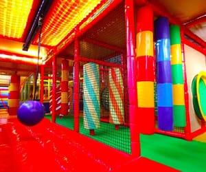 aesthetic, playground, and rainbow image
