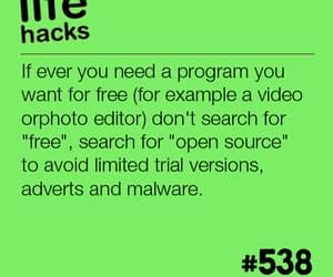 free, hacks, and life image